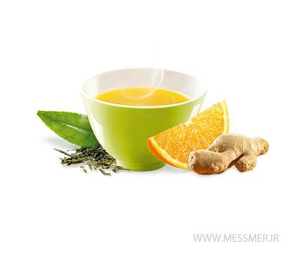 چای سبز زنجبیل و پرتقال مسمر