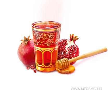 دمنوش انار ایرانی و عسل مسمر
