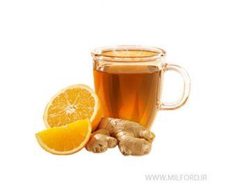 دمنوش پرتقال و زنجبیل