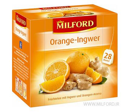 دمنوش پرتقال و زنجبیل میلفورد